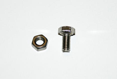 Rasenkanten Edelstahlschrauben und Muttern M4 x 8 mm (40 Teile) für Rasenkante Metall 1180 x 120 x 95 mm
