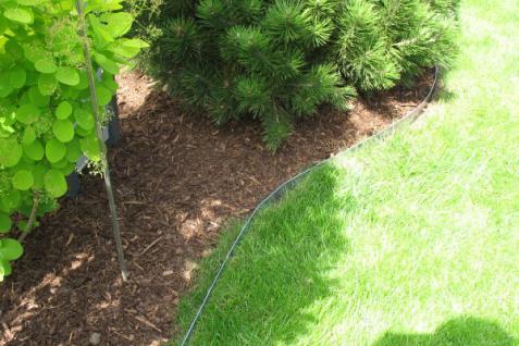 Rasenkante Metall 1180 x 175 x 95 mm einzeln - abgerundete Rasenkanten aus feuerverzinktem Stahlblech - Vorschau 3