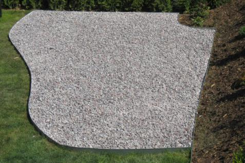 Rasenkante Metall 1180 x 175 x 95 mm einzeln - abgerundete Rasenkanten aus feuerverzinktem Stahlblech - Vorschau 2
