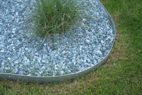 10er Set Rasenkante Metall je 1180 x 175 x 95 mm - abgerundete Rasenkanten aus feuerverzinktem Stahlblech