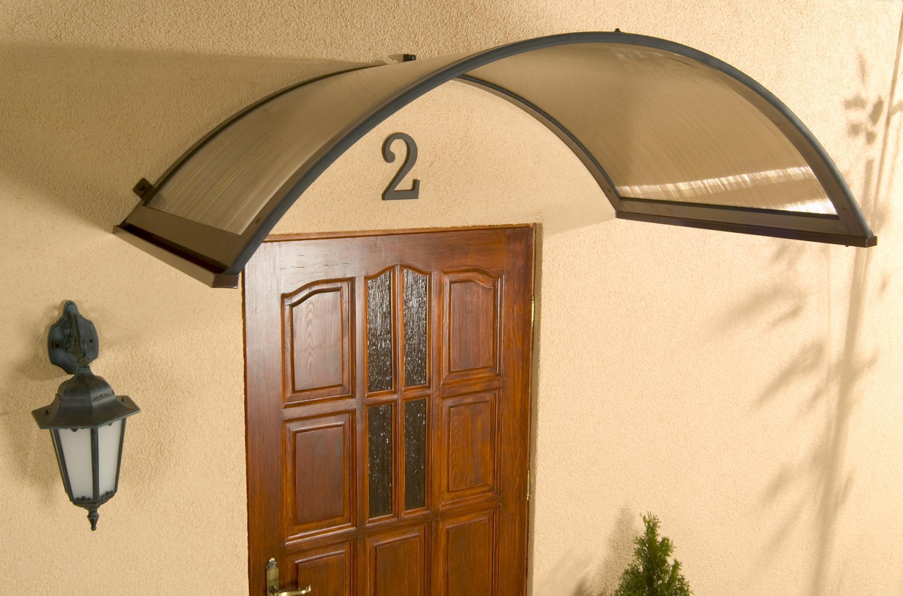 Alu rundbogenvordach haust rvordach vordach rondo braun for Vordach kaufen