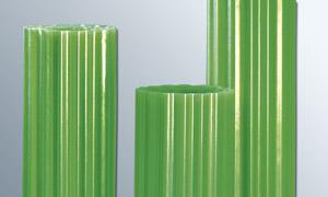 (5, 50 EUR/qm) Polyester Lichtwellbahnen Wellpolyester Wellbahnen GFK glasfaserverstärkt grün transparent