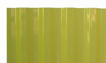PVC Wellplatten Trapez 70/18 gelb transparent 3000 x 1090 mm Lichtplatten Profilplatten - Vorschau