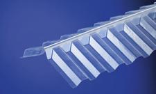Wellfirsthaube für Firstabdeckungen von PVC Wellplatten Trapez 70/18, Länge 900 mm, Firstprofil, Firsthaube