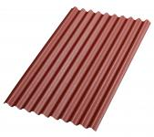 Bitumenwellplatten Set rot Compact: 8 Stück je 1000 x 750 mm, Nägel und Dichtscheiben