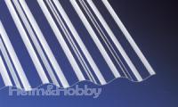 (25, 70 EUR/qm) Acryl Wellplatten Lichtplatten Profilplatten Sinus 76/18 klar 3 mm