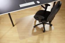 Floortex Bodenschutzmatte 120 x 90 cm aus PVC für glatte Böden