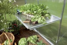 Gartentec Arbeitstisch Pflanztisch für Gewächshaus F2 bis F6