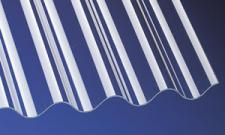 (13,90 EUR/qm) PVC Wellplatten Lichtplatten Profilplatten P8 Sinus 130/30 klar