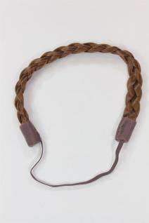 Haarteil: geflochtener Haarreif Kunsthaar Hair Circlet Braun YZF-3080-12