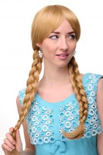 Damen Perücke Cosplay Blond Goldblond geflochtene Zöpfe Schulmädchen 3446-24B