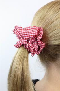 Freches 60ies Rot/Weiß kariertes Vintage-Look Haarband Haarbinder Stoff Scrunchy