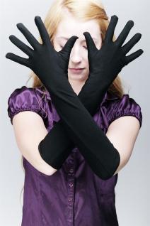 Karneval Fasching Handschuhe Damenhandschuhe Opernhandschuhe lang schwarz Z077