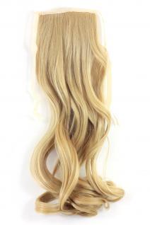 Haarteil ZOPF Blond wellig 45cm YZF-TC18-86 Band Haar Klammer Haarverlängerung