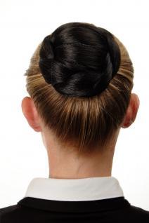 Aufwendig geflochten Haarknoten Dutt Haarteil Kamm Haarnadel Schwarz N672-2