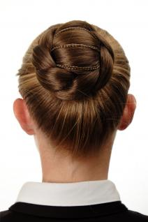 Aufwendig geflochten Haarknoten Dutt Haarteil Braun Goldbraun N672-12