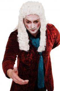 Fasching Perücke Karneval Adel Barock Renaissance Richter Lord Weiß WIG002-P60