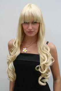 Blonde Perücke sehr lang, lockig 3116-LG26