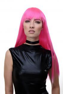Sexy Damenperücke Perücke Cosplay Roleplay Pony Pink Rosa Mix lang glatt GFW1833