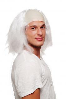 Fasching Karneval Halloween Perücke Igor Einstein Frankenstein Opa Glatze 4232
