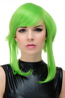 WIG ME UP Damen-Perücke Cosplay hellgrün grün kurz lange Strähnen YZF7103-TF2605