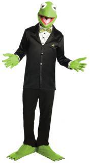 Rubies: Kermit Set Modell 3/5441 Muppets Maske Handschuhe Piggy Kostüm Karneval
