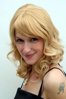 Perücke blond schulterlang lockig 6370-611B