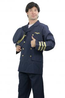 Kostüm Herrenkostüm Airline Captain Flugkapitän Pilot Steward Uniform K44