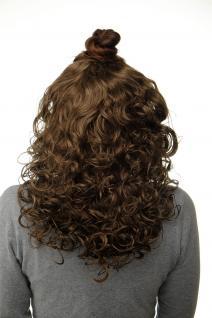 Haarteil Halbperücke Clip-In Haarverlängerung Locken Goldbraun 40cm H9312-12
