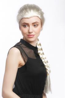 Perücke Damen Karneval Cosplay Blond Hellblond langer Zopf gfelochten Prinzessin