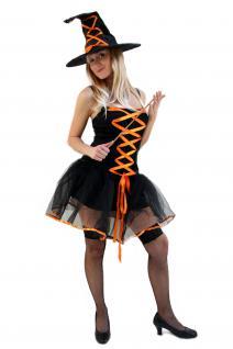 Kostüm SEXY&WICKED Witch Hexe Fee Halloween Walpurgisnacht Zauberin Hexerin K36