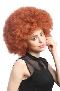 Perücke Karneval Fasching Groß Afro Afroperücke XXL Rot Kupferrot Rostrot XR-002
