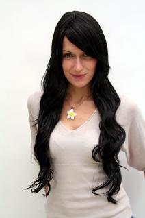 Perücke schwarze Haare lang 9321L-2