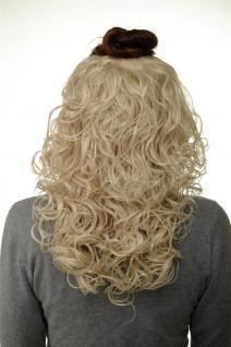 Haarteil Halbperücke Clip-In Haarverlängerung Locken Lichtblond 40cm H9312-88