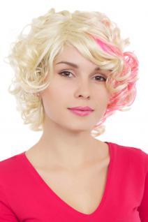 Perücke, Wig, lockig, blond, pink, frech, kurz, Länge: ca 30cm, GFW961-613TF2315
