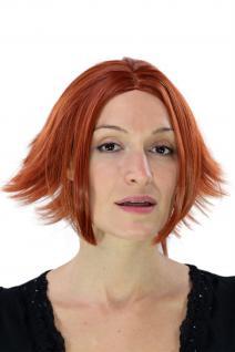 Cosplay Gothic Perücke She-Devil Mittelscheitel rot Wig