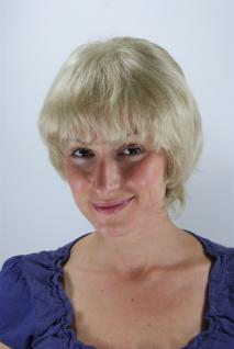 Kurzhaarperücke Wig blond fransig frech kurz toupiertes Haar 25 cm 26062-22TT26