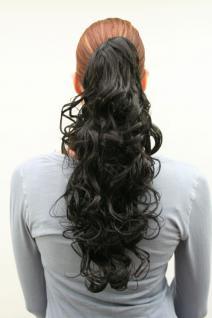 Haarteil schwarz gelockt C-128-2