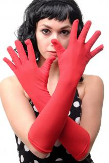 Karneval Fasching Handschuhe Damenhandschuhe lang rot Burlesque DWS-019-RED