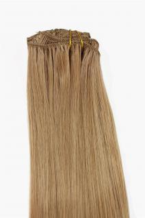 Clip-In, Achtteilig, Set, Extensions, Haarverlängerung, Aschblond, 40 cm, EX03-GGO-15