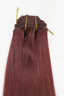 Clip-In, Achtteilig, Set, Extensions, Haarverlängerung, rotbraun, 40 cm, EX03-GGO-35