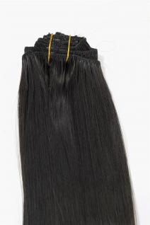 Clip-In, Achtteilig, Set, Extensions, Haarverlängerung, dunkelbraun, 40 cm, EX03-GGO-3
