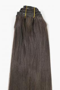 Clip-In, Achtteilig, Komplettset, Extensions, Haarverlängerung, braun, 40cm, EX03-GGO-6
