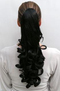 Haarteil schwarz Locken NC-19-2