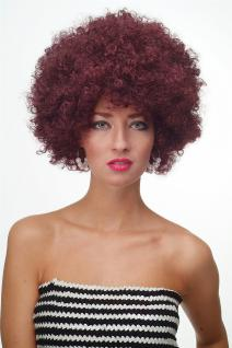 Perücke Afroperücke Afro 70er Party Funky Disco Foxy Aubergine-Rot PW0011-PC99