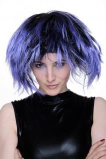 Perücke Blau Punk 80er achtziger New Wave Disco Funk Karneval Halloween Fasching