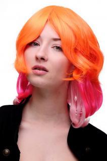 Perücke Cosplayperücke Cosplay Pink Orange Platin gestuft krasser Scheitel SA056