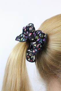 Kess bunt betupftes 80er Vintage-Look Haarband Haarbinder Stoff Scrunchy Z015