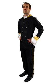 Kostüm UNIFORM Südstaaten CIVIL WAR Offizier Zar Unabhängigkeit Amerika K27
