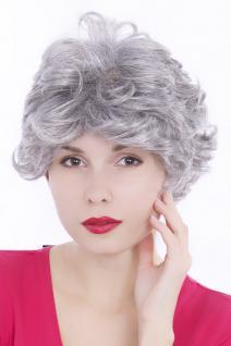 Perücke, Wig, kurz, kurzhaarig, weiß, grau, lockig, Länge: ca. 30 cm, GFW513-51